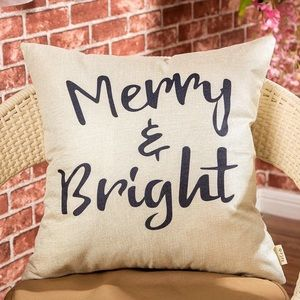 Other - Merry & Bright Decorative Pillow Cover
